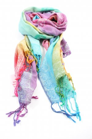 Pashmina Cashmere Scarf abstract pattern casual look