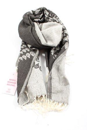 Pashmina Écharpe en cachemire gris clair motif abstrait style décontracté