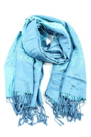 Pashmina Kaschmirschal blau Casual-Look