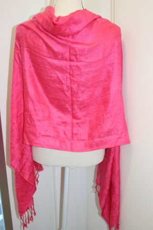 Pashmina neon red cashmere