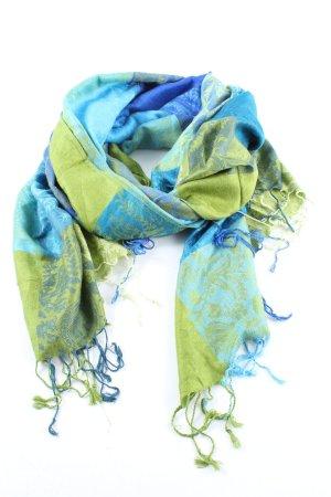 Pashmina Pashmina blau-grün Blumenmuster Casual-Look