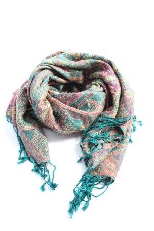 Pashmina Szal Pashmina niebieski-różowy Łączone wzory W stylu casual