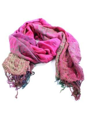 Pashmina Pashmina rose-doré imprimé allover style décontracté