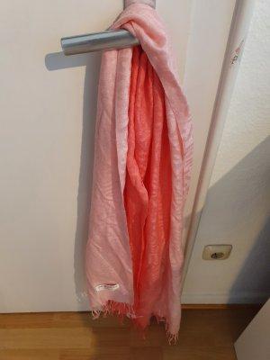 Pashmina rosso lampone-rosa pallido