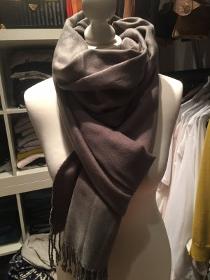 Pashmina Cashmere Scarf grey brown