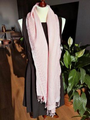 Pashmina-Schal mit Pailletten - rosa