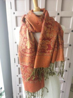 Pashmina marrone chiaro-arancione