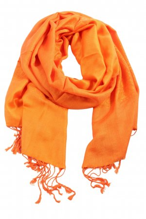 Pashmina Knitted Scarf light orange casual look