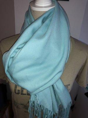 Pashmina bleu clair-turquoise