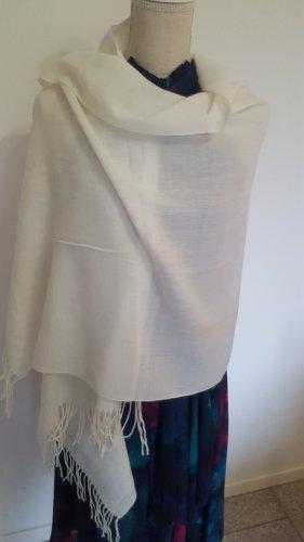 Pashmina Woolen Scarf natural white