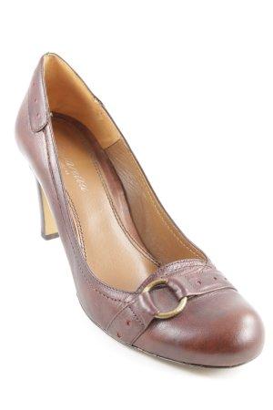 Passarella High Heels braun-rot Punktemuster Casual-Look