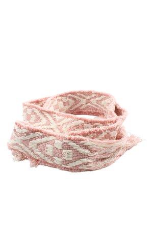 Passigatti Pasek materiałowy różowy-kremowy W stylu casual