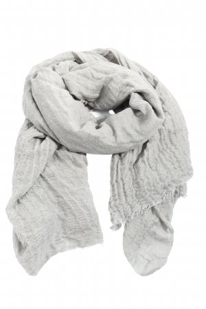 Passigatti Fringed Scarf light grey casual look