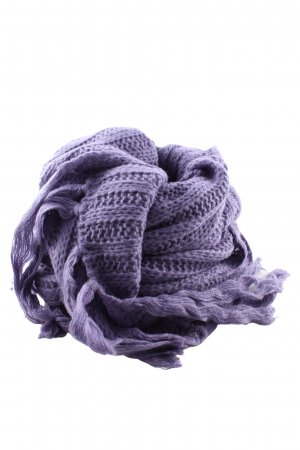 Passigatti Fringed Scarf lilac cable stitch casual look