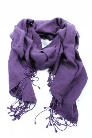 Passigatti Fringed Scarf lilac casual look
