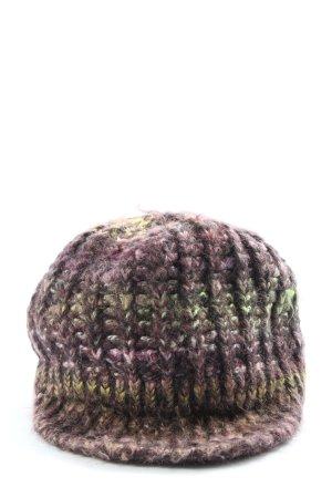 Passigatti Bonnet en crochet multicolore style décontracté