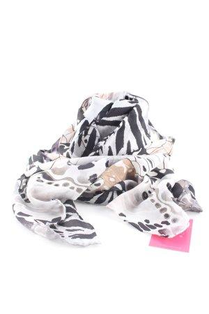 Passigatti Halstuch wollweiß-schwarz abstraktes Muster Casual-Look