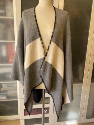 Passigatti Knitted Poncho anthracite-white