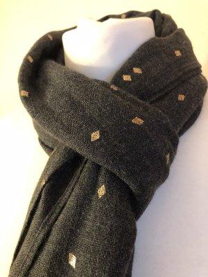 Passigatti Woolen Scarf grey-gold-colored