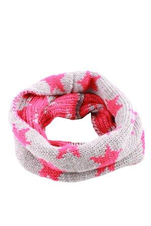 Passigatti Schlauchschal hellgrau-pink grafisches Muster Casual-Look