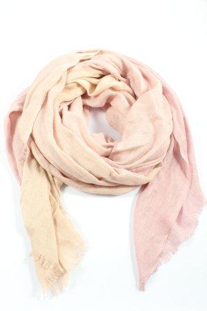Passigatti Châle au tricot rose-crème style décontracté