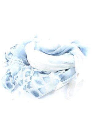 Passigatti Sommerschal weiß-blau abstraktes Muster Casual-Look