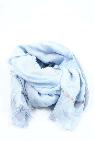 Passigatti Sommerschal blau-silberfarben Casual-Look