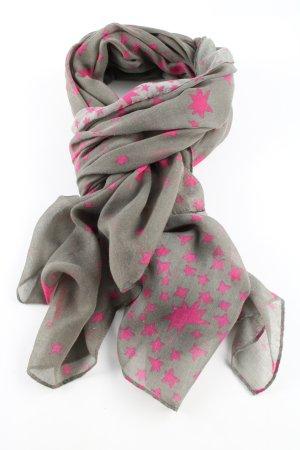 Passigatti Sommerschal hellgrau-pink Allover-Druck Casual-Look