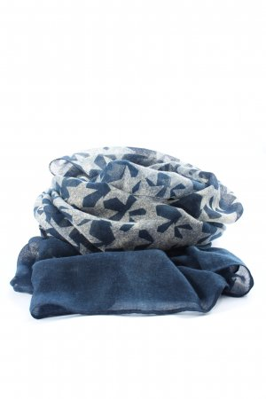 Passigatti Summer Scarf light grey-blue graphic pattern casual look