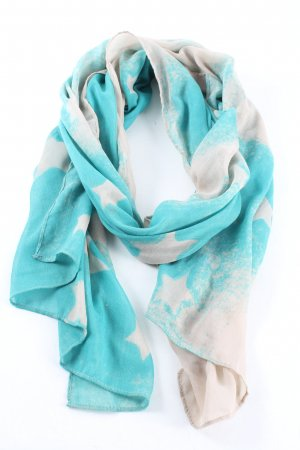 Passigatti Summer Scarf turquoise-white allover print casual look