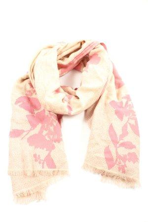 Passigatti Summer Scarf cream-pink flower pattern casual look
