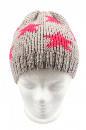 Passigatti Knitted Hat light grey-red allover print casual look