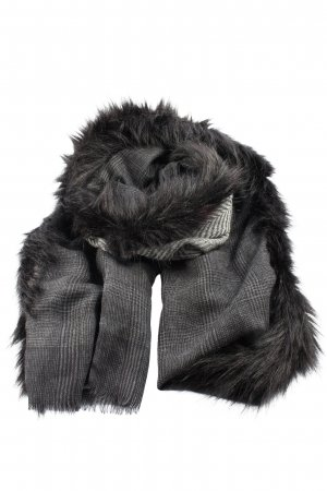 Passigatti Knitted Scarf light grey check pattern casual look