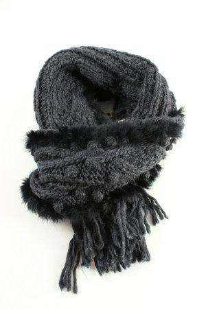 Passigatti Gebreide sjaal zwart kabel steek casual uitstraling