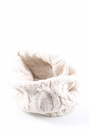 Passigatti Woolen Scarf white cable stitch casual look