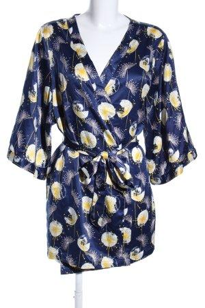 Passionata Kimono blue allover print elegant