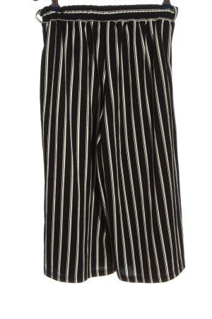 Passport Culottes zwart-wit gestreept patroon casual uitstraling