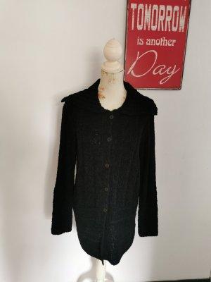 Passport Knitted Cardigan black wool
