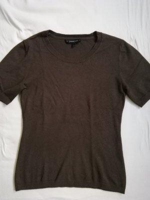 Passport T-shirts en mailles tricotées brun foncé