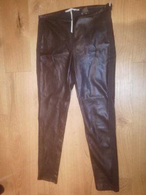 Passport Leather Trousers black polyurethane