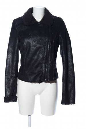 Passport Faux Leather Jacket black casual look