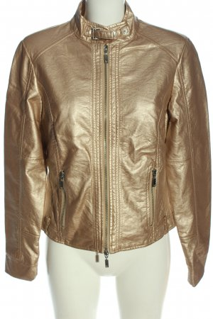 Passport Kunstlederjacke goldfarben Casual-Look