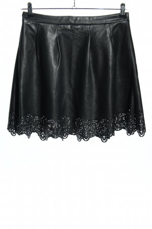Passport Faux Leather Skirt black casual look