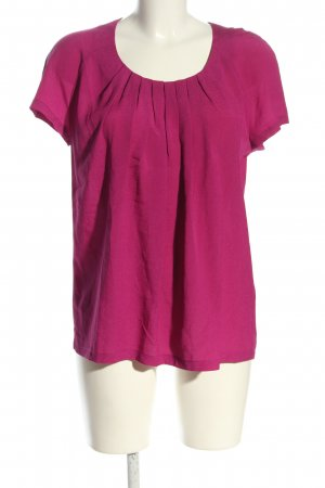 Passport Kurzarm-Bluse pink Casual-Look