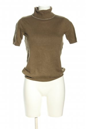 Passport Short Sleeve Sweater brown casual look