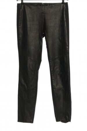 Passport Lederhose schwarz Casual-Look
