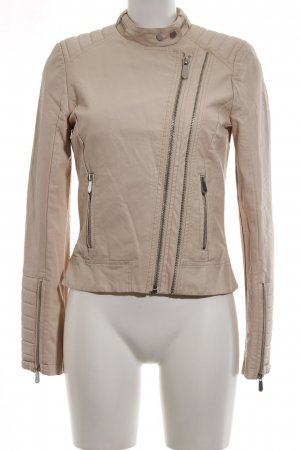 Passport Leather Jacket nude casual look