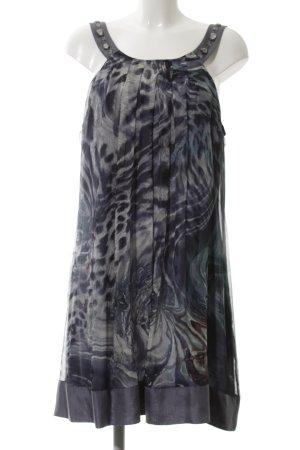 Passport Sukienka midi niebieski-czarny Na całej powierzchni W stylu biznesowym