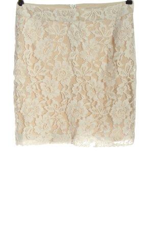 Passport Minigonna crema-color carne motivo floreale elegante