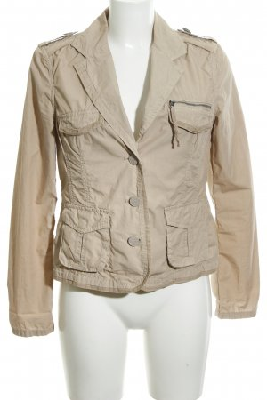 Passport Safari Jacket cream embroidered lettering casual look